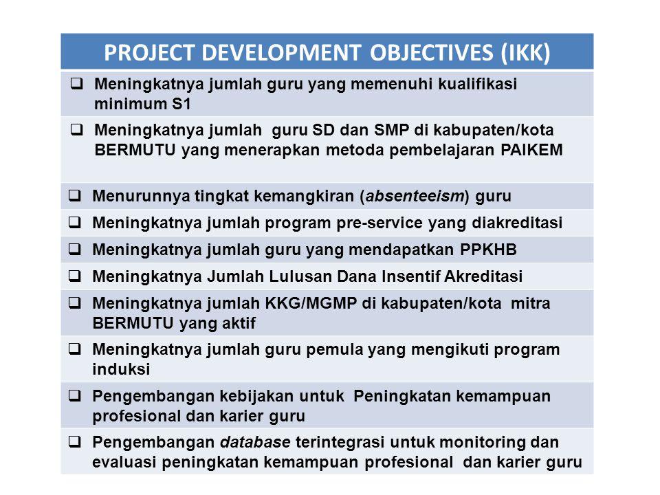 PROJECT DEVELOPMENT OBJECTIVES (IKK)