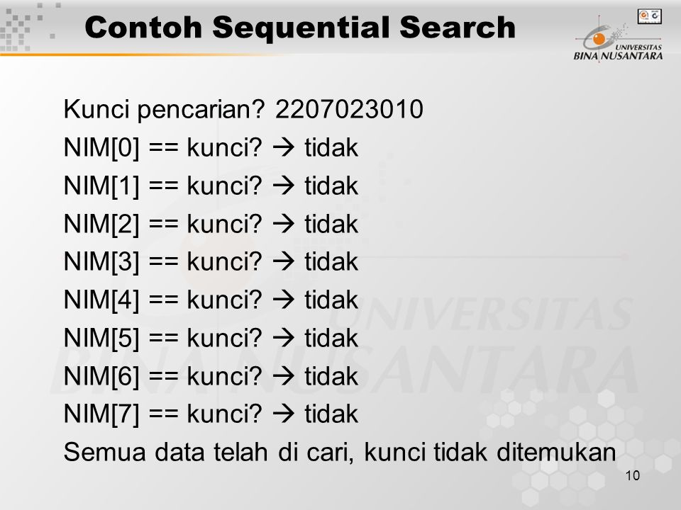 Contoh Sequential Search