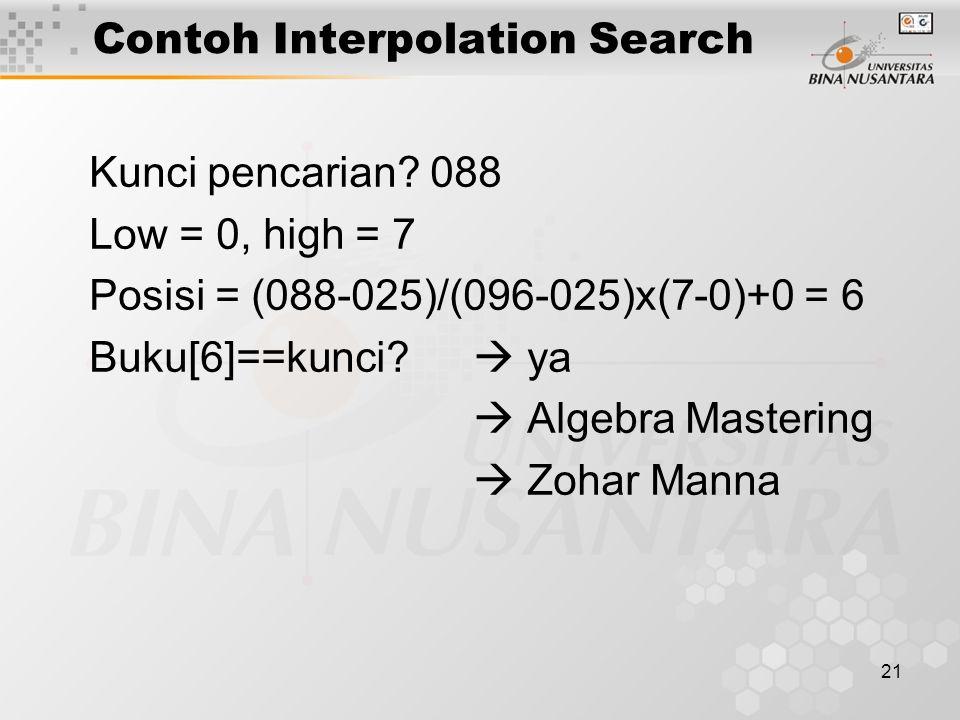 Contoh Interpolation Search