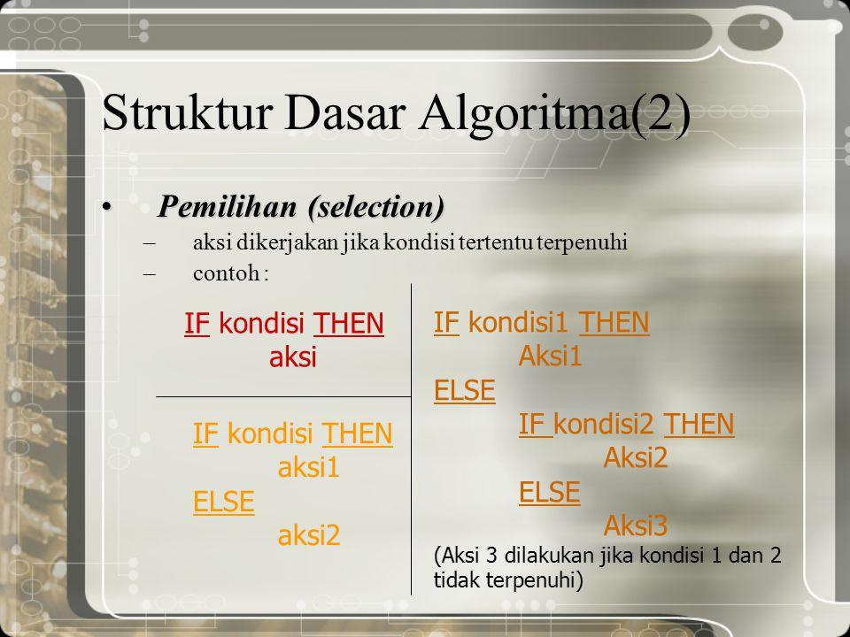 Struktur Dasar Algoritma(2)
