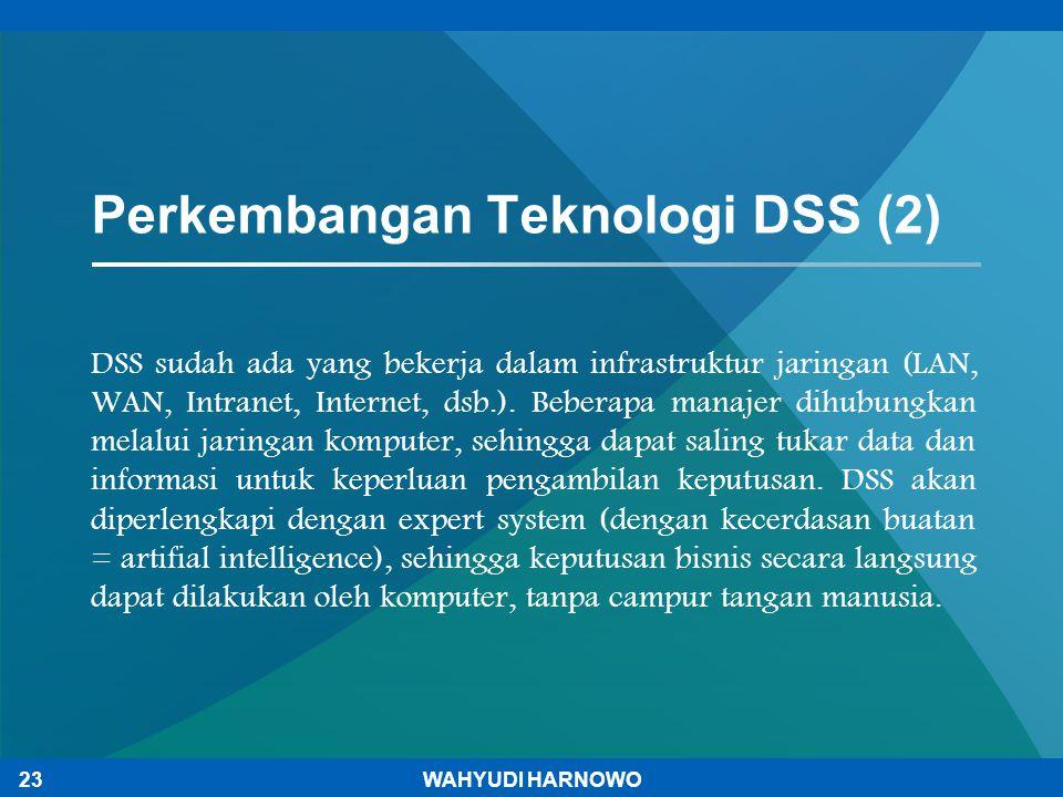 Perkembangan Teknologi DSS (2)