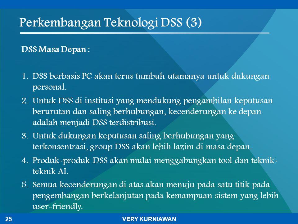 Perkembangan Teknologi DSS (3)