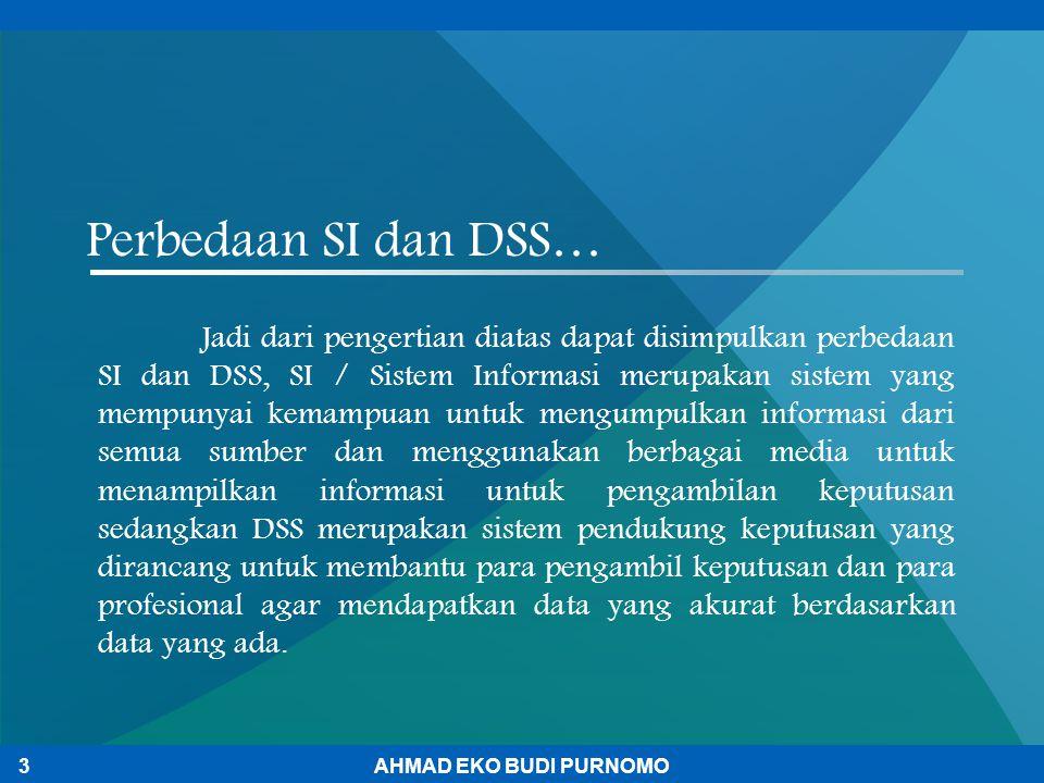 Perbedaan SI dan DSS…