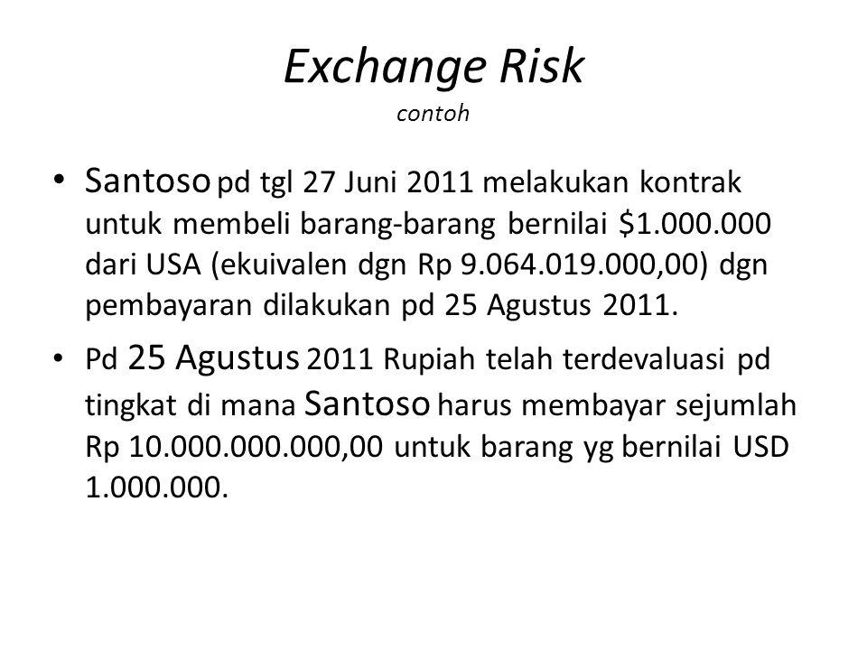 Exchange Risk contoh