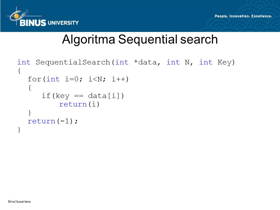 Algoritma Sequential search