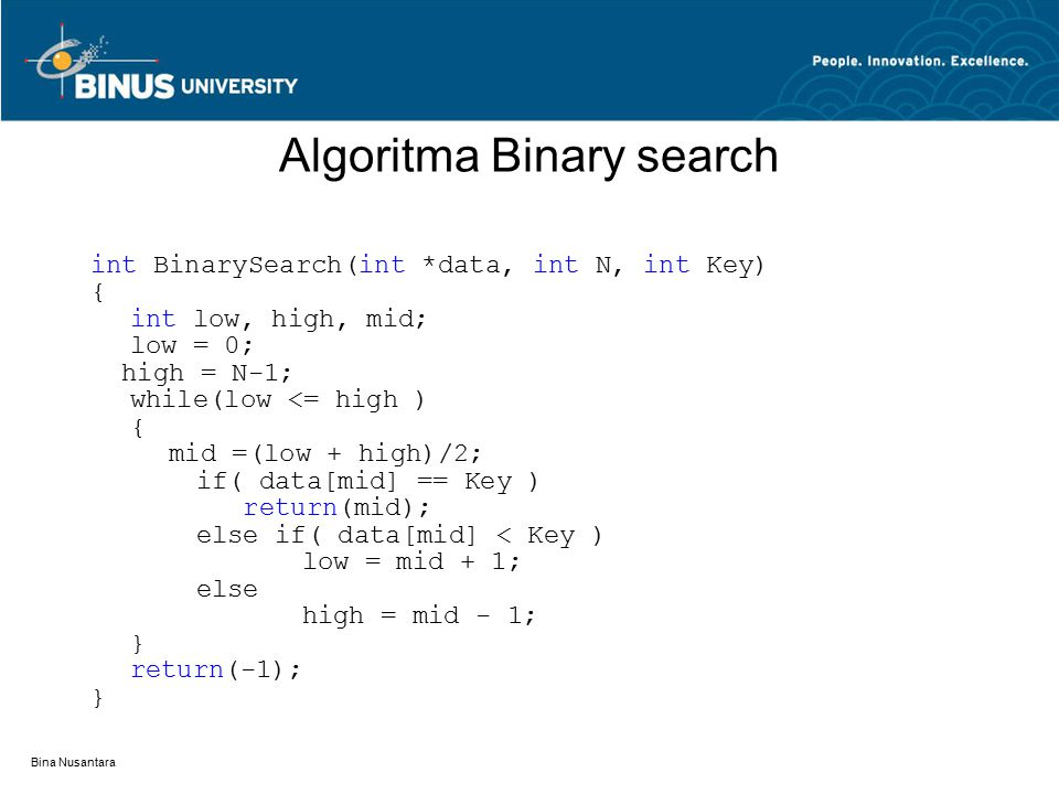 Algoritma Binary search
