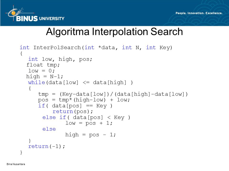Algoritma Interpolation Search