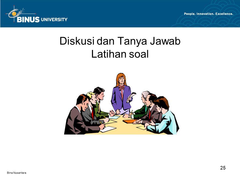 Diskusi dan Tanya Jawab Latihan soal