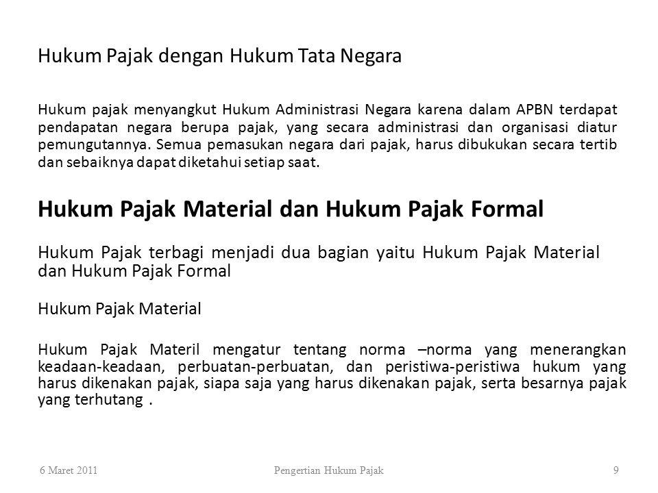 Hukum Pajak Material dan Hukum Pajak Formal