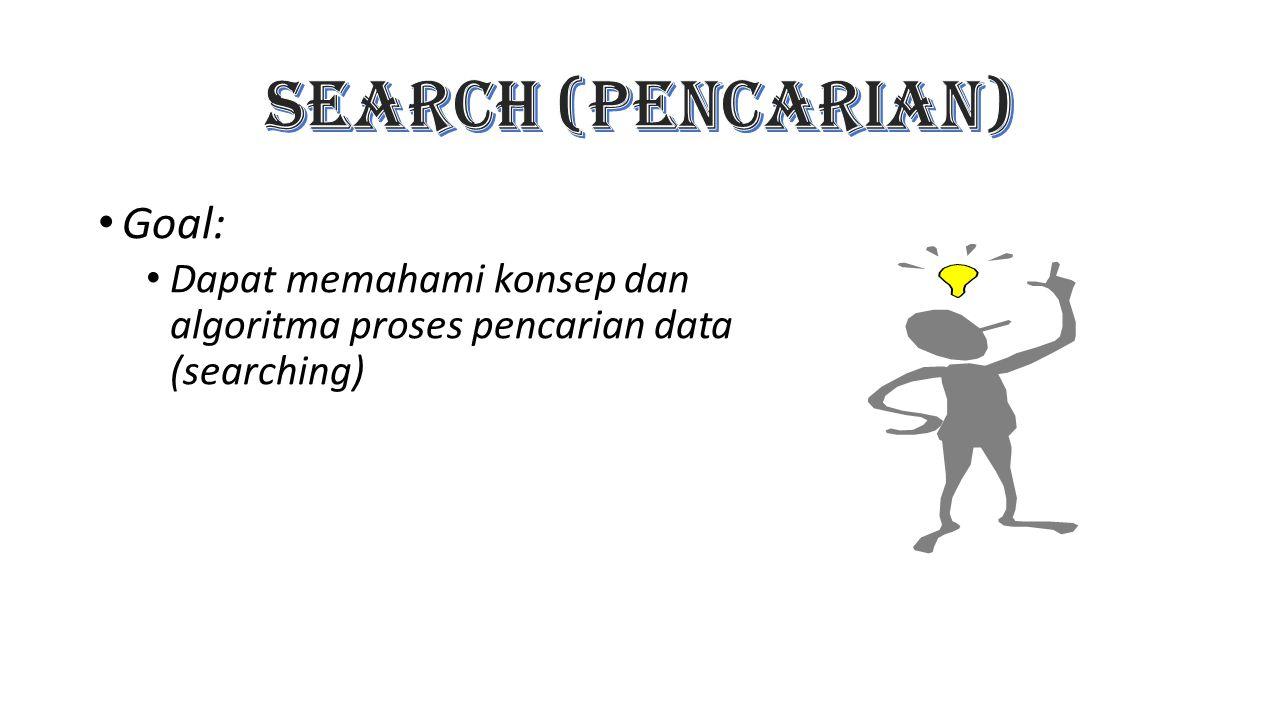 SEARCH (pencarian) Goal: