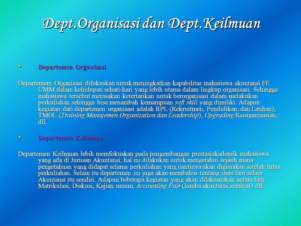 Dept.Organisasi dan Dept.Keilmuan
