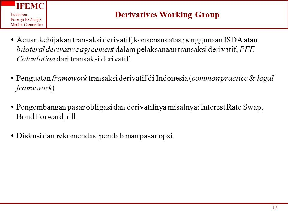 Derivatives Working Group