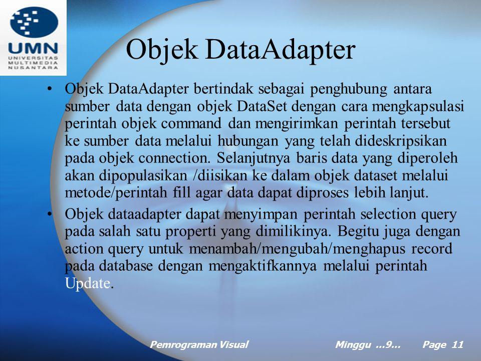Objek DataAdapter