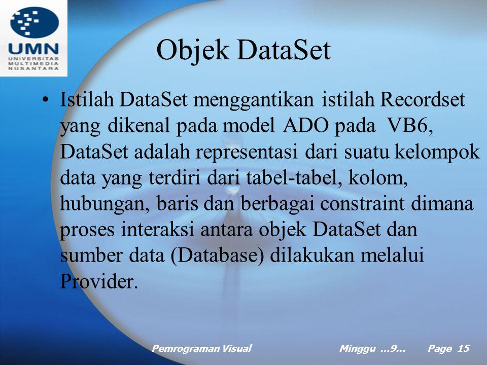 Objek DataSet