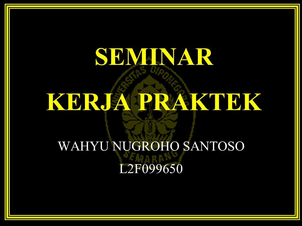 WAHYU NUGROHO SANTOSO L2F099650