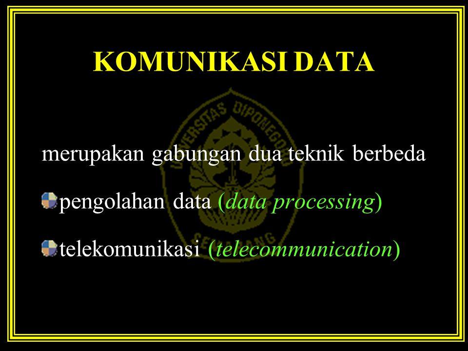 KOMUNIKASI DATA merupakan gabungan dua teknik berbeda