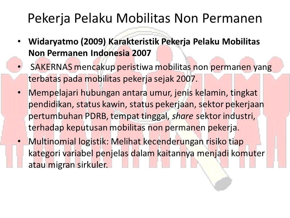 Pekerja Pelaku Mobilitas Non Permanen