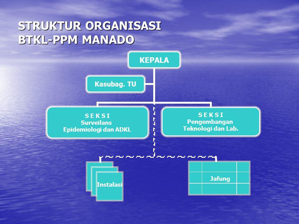 STRUKTUR ORGANISASI BTKL-PPM MANADO
