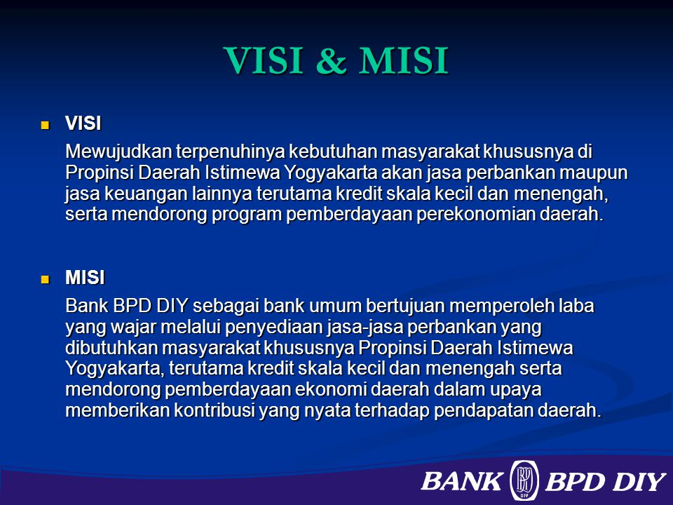 VISI & MISI VISI.