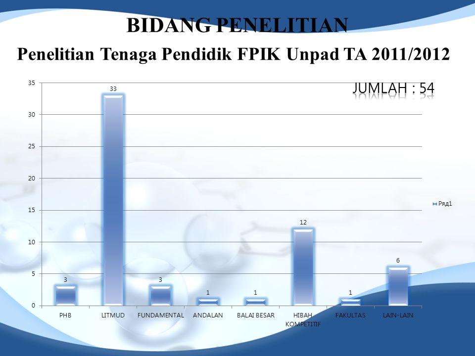 Penelitian Tenaga Pendidik FPIK Unpad TA 2011/2012