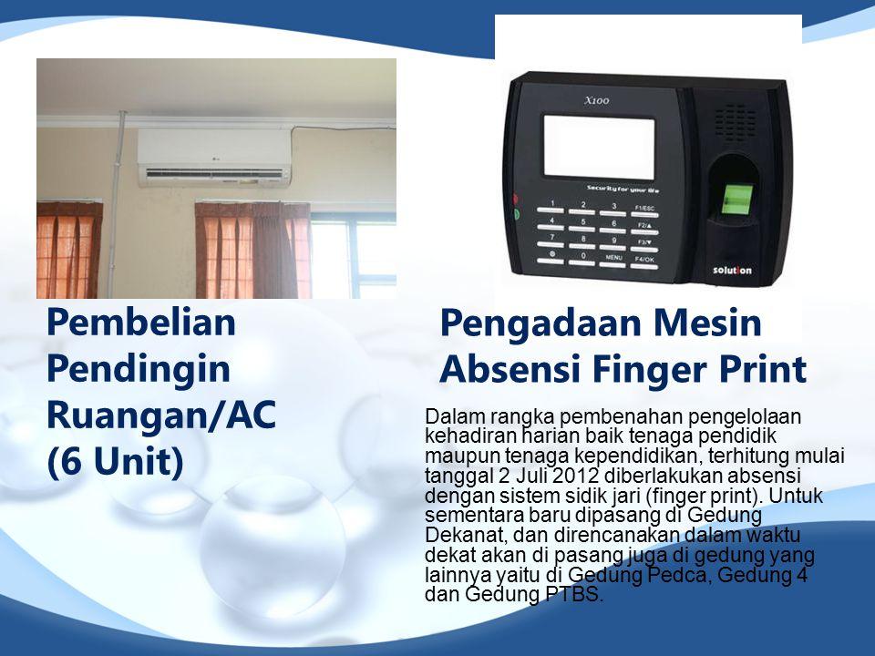Pembelian Pendingin Ruangan/AC (6 Unit)