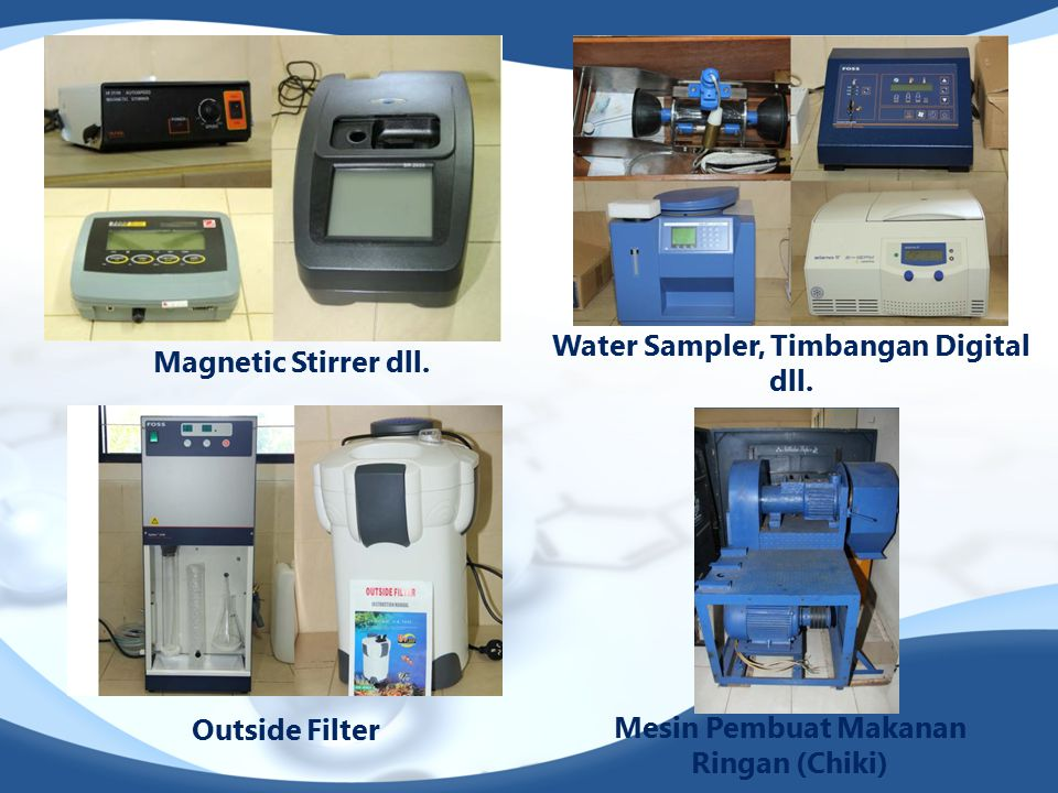 Water Sampler, Timbangan Digital dll. Magnetic Stirrer dll.