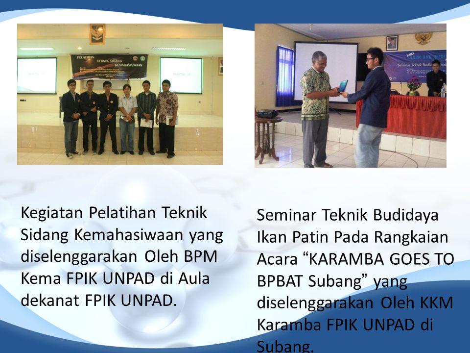 Kegiatan Pelatihan Teknik Sidang Kemahasiwaan yang diselenggarakan Oleh BPM Kema FPIK UNPAD di Aula dekanat FPIK UNPAD.