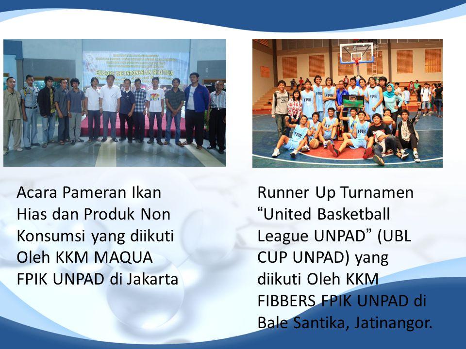 Acara Pameran Ikan Hias dan Produk Non Konsumsi yang diikuti Oleh KKM MAQUA FPIK UNPAD di Jakarta
