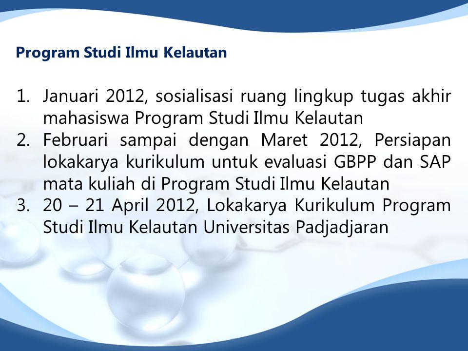 Program Studi Ilmu Kelautan