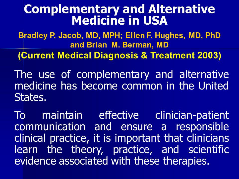 Complementary and Alternative Medicine in USA