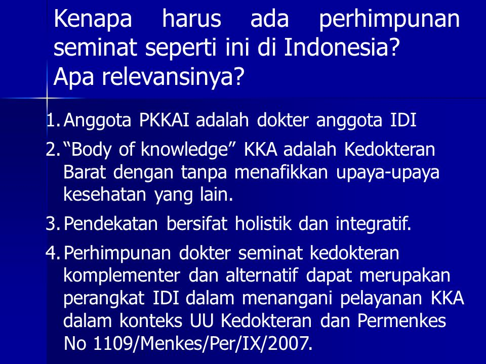 Kenapa harus ada perhimpunan seminat seperti ini di Indonesia