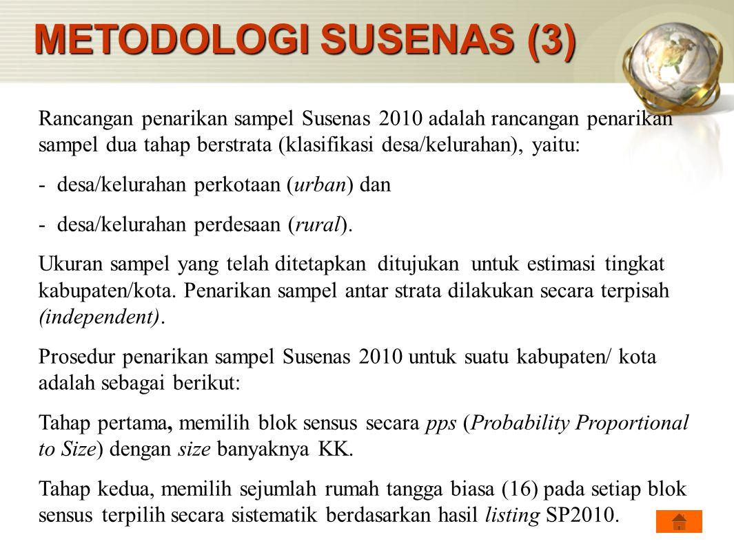 METODOLOGI SUSENAS (3)