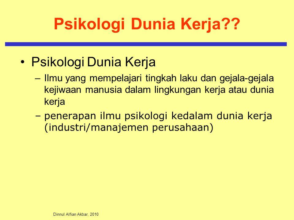 Psikologi Dunia Kerja Psikologi Dunia Kerja