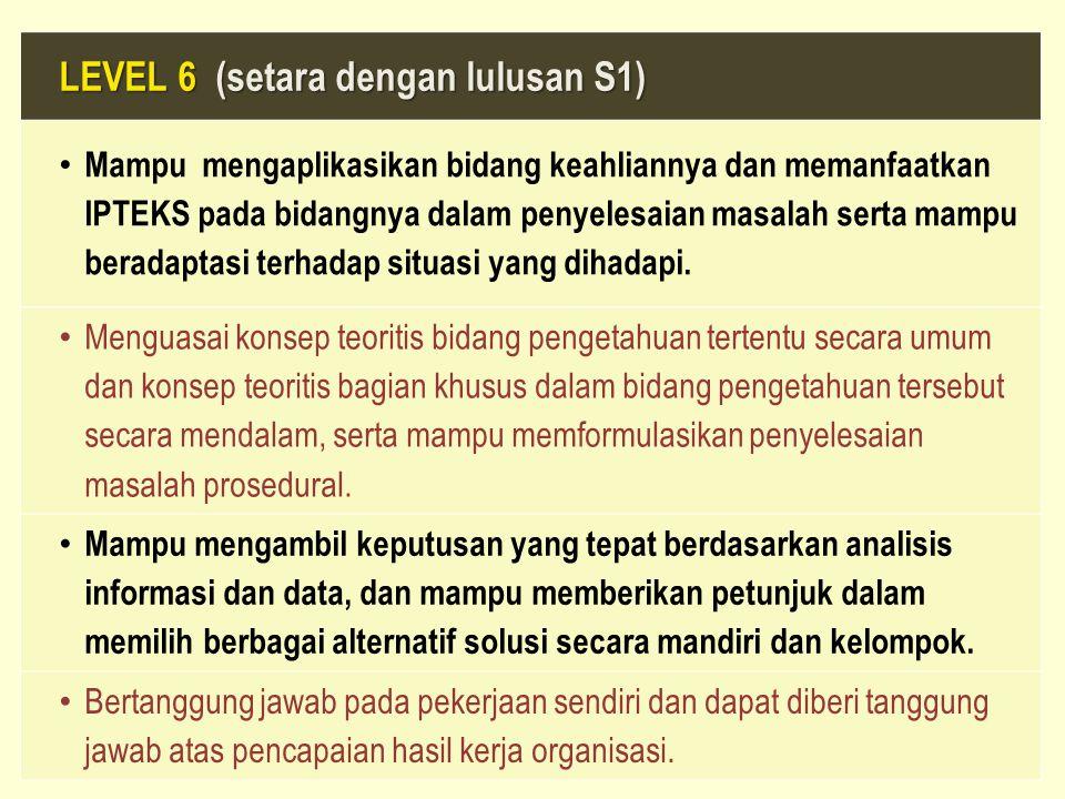 LEVEL 6 (setara dengan lulusan S1)