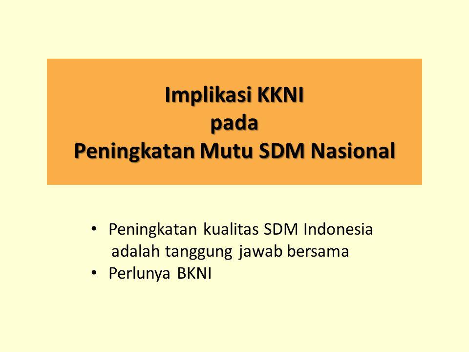 Implikasi KKNI pada Peningkatan Mutu SDM Nasional