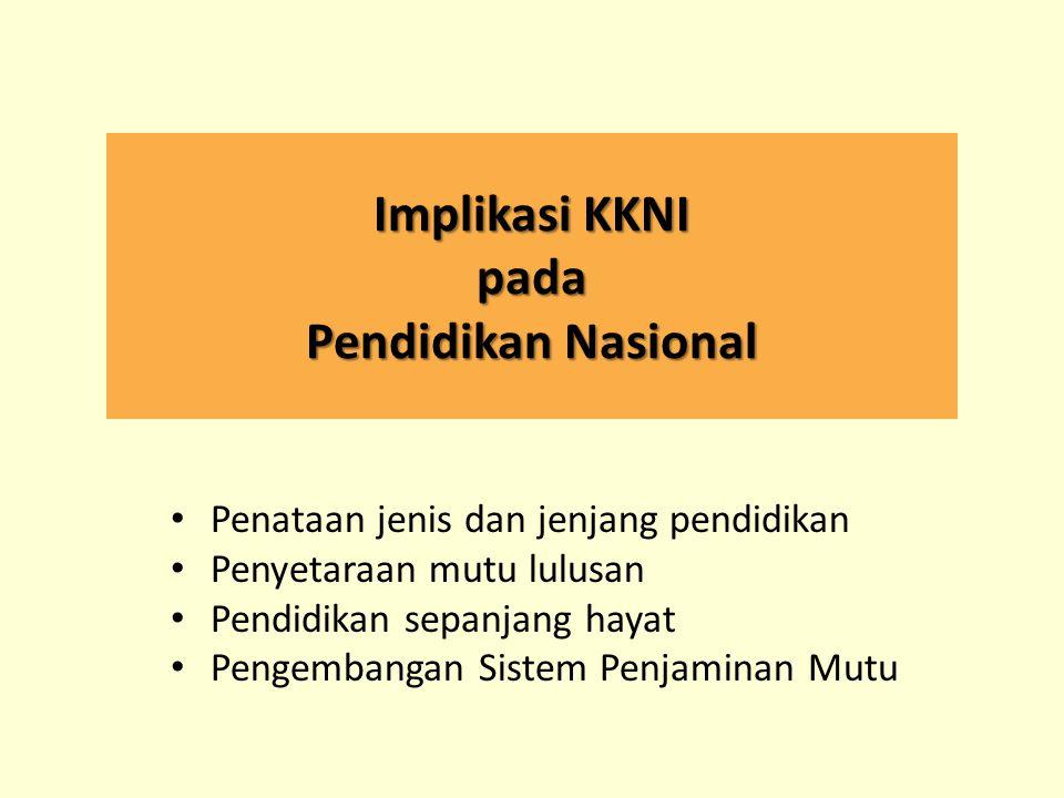Implikasi KKNI pada Pendidikan Nasional