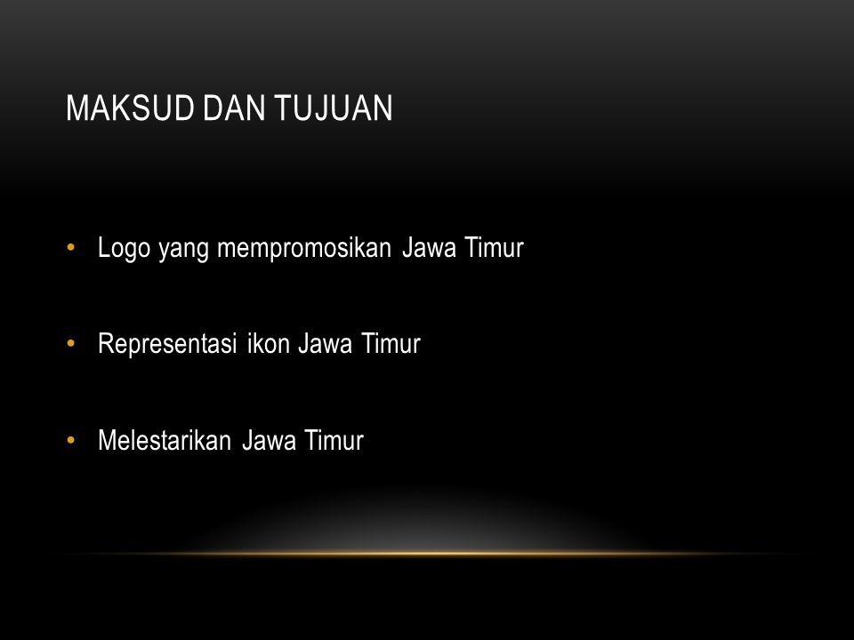 Maksud dan tujuan Logo yang mempromosikan Jawa Timur