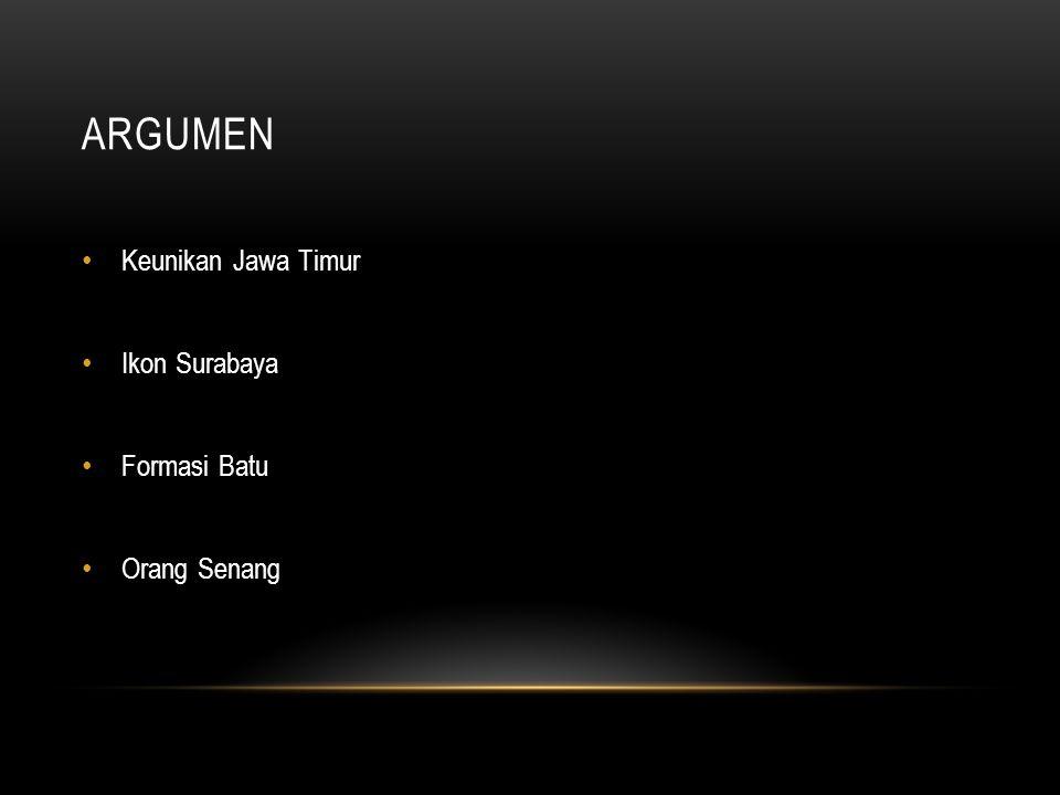 Argumen Keunikan Jawa Timur Ikon Surabaya Formasi Batu Orang Senang