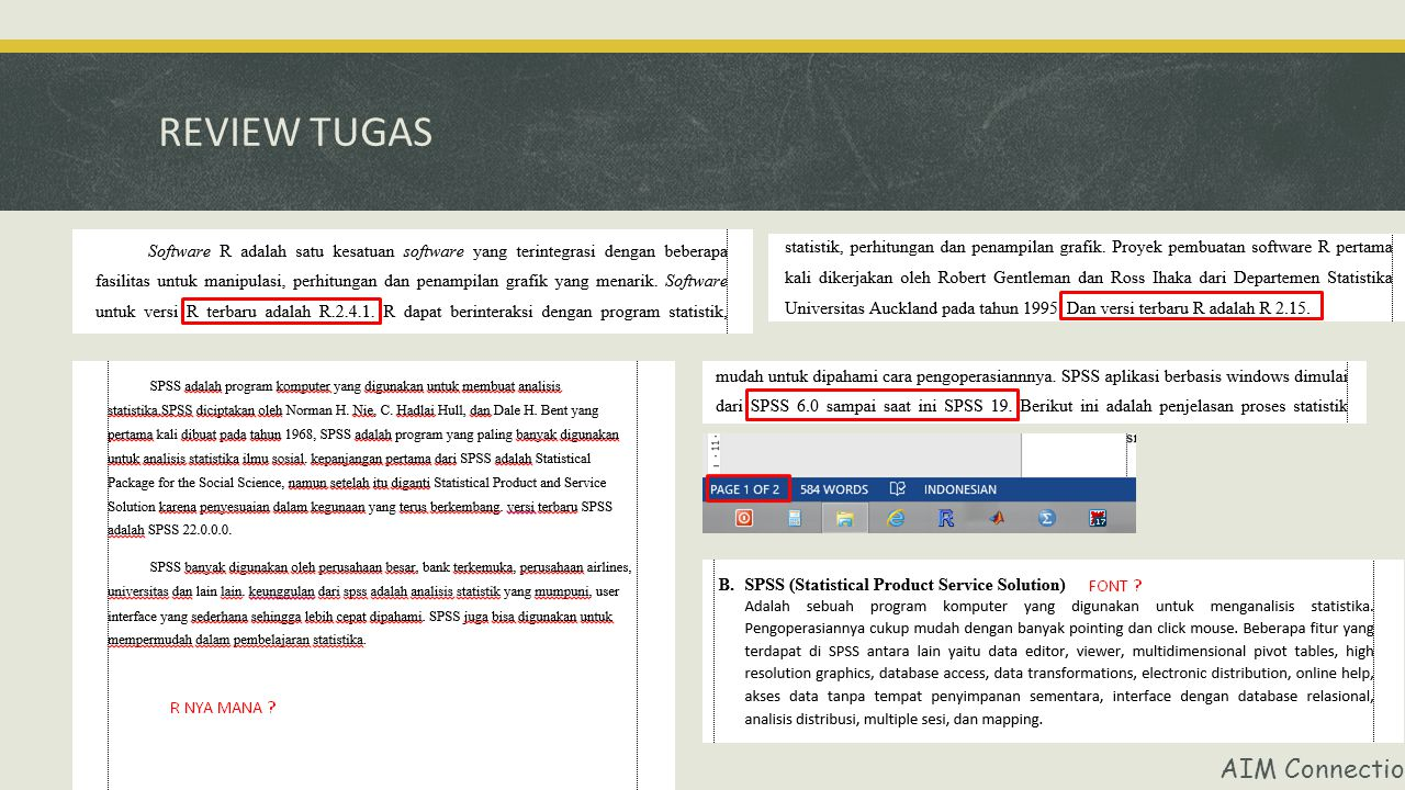 REVIEW TUGAS