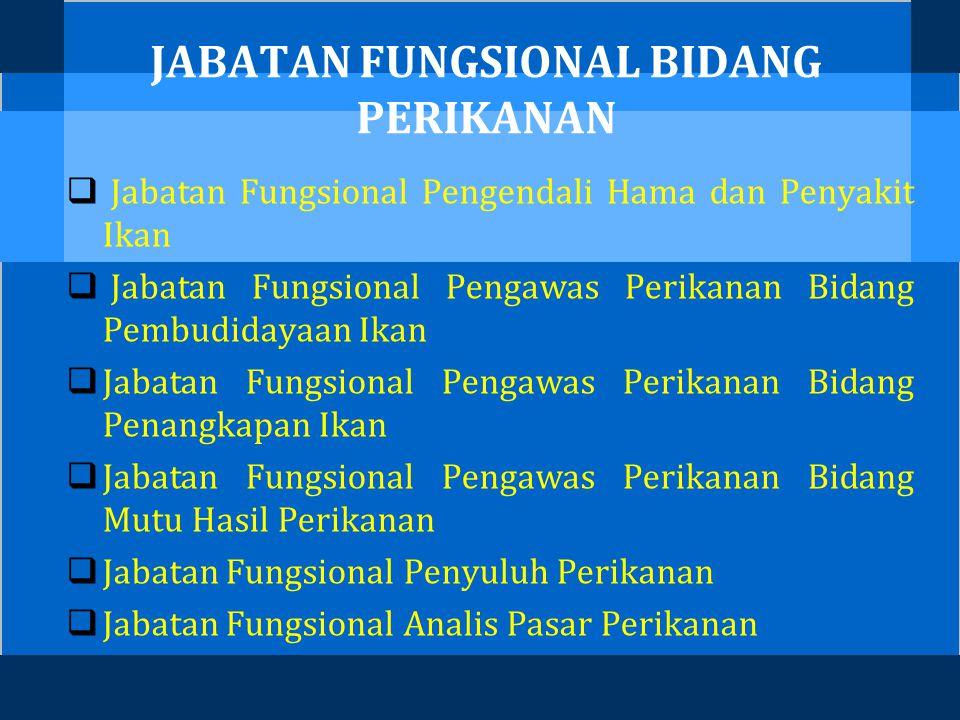 JABATAN FUNGSIONAL BIDANG PERIKANAN