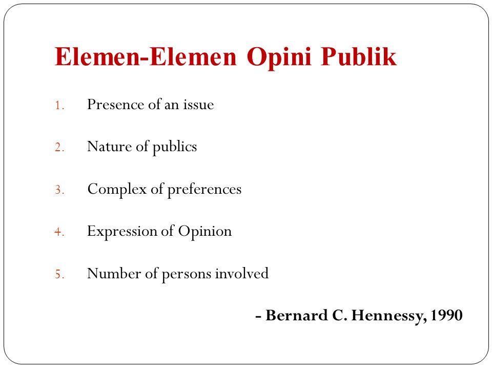 Elemen-Elemen Opini Publik