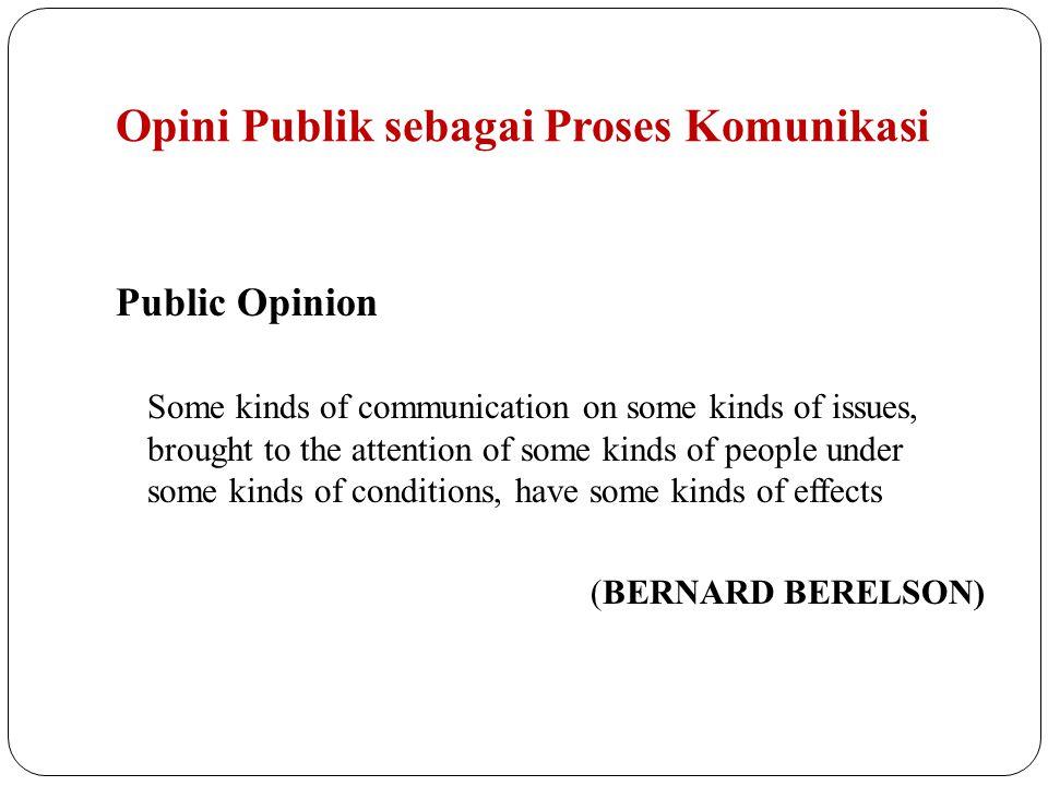 Opini Publik sebagai Proses Komunikasi
