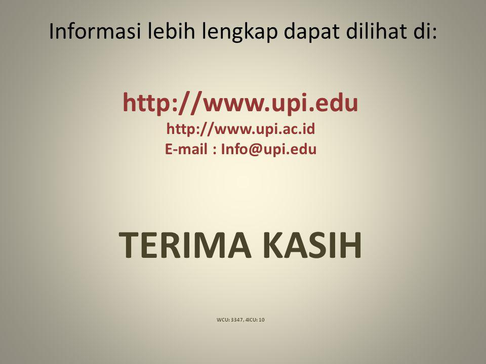 Informasi lebih lengkap dapat dilihat di: