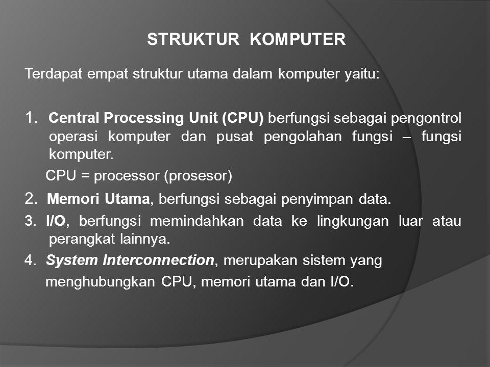 STRUKTUR KOMPUTER Terdapat empat struktur utama dalam komputer yaitu: