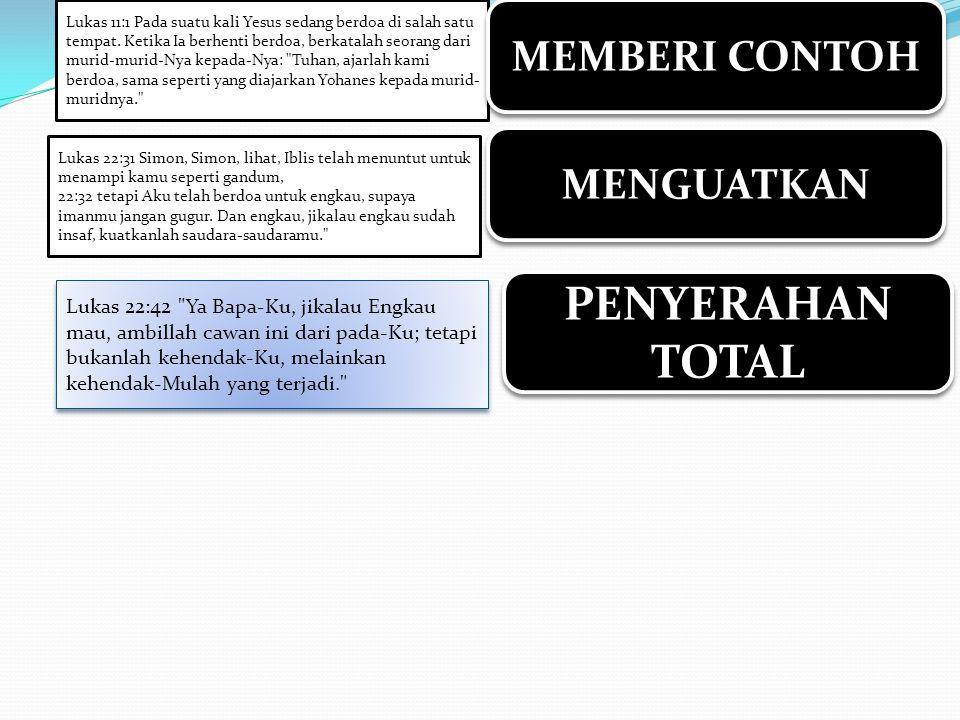 PENYERAHAN TOTAL MEMBERI CONTOH MENGUATKAN