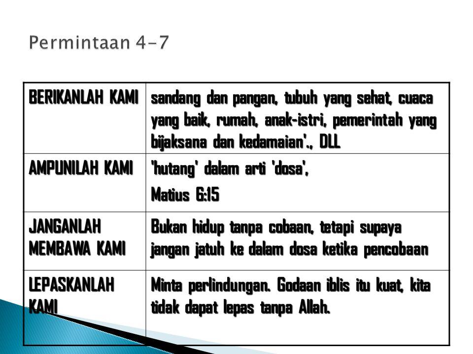 Permintaan 4-7 BERIKANLAH KAMI.