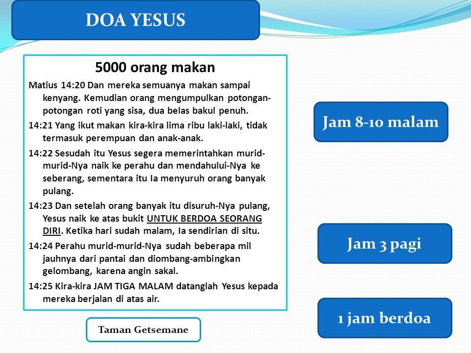 DOA YESUS 5000 orang makan Jam 8-10 malam Jam 3 pagi 1 jam berdoa