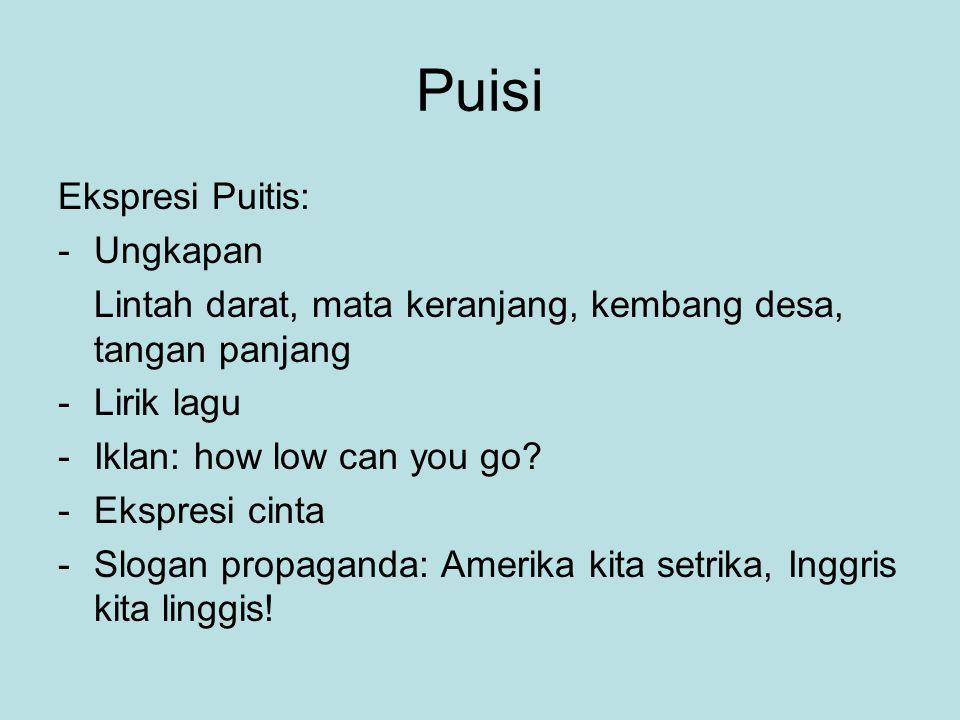Puisi Ekspresi Puitis: Ungkapan