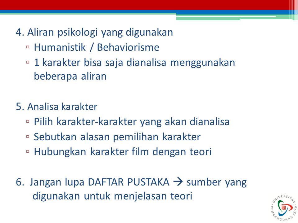 4. Aliran psikologi yang digunakan
