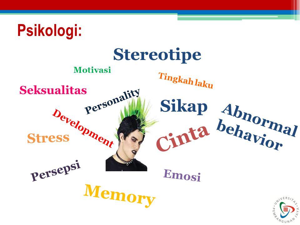 Cinta Psikologi: Stereotipe Sikap Memory Abnormal behavior Stress